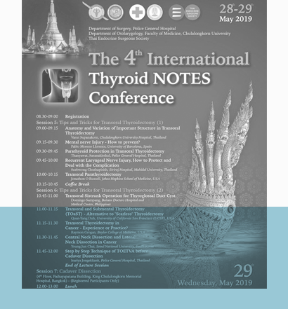 Conference on Thyroid Natural Orifice Translumenal Endoscopic Surgery 2019